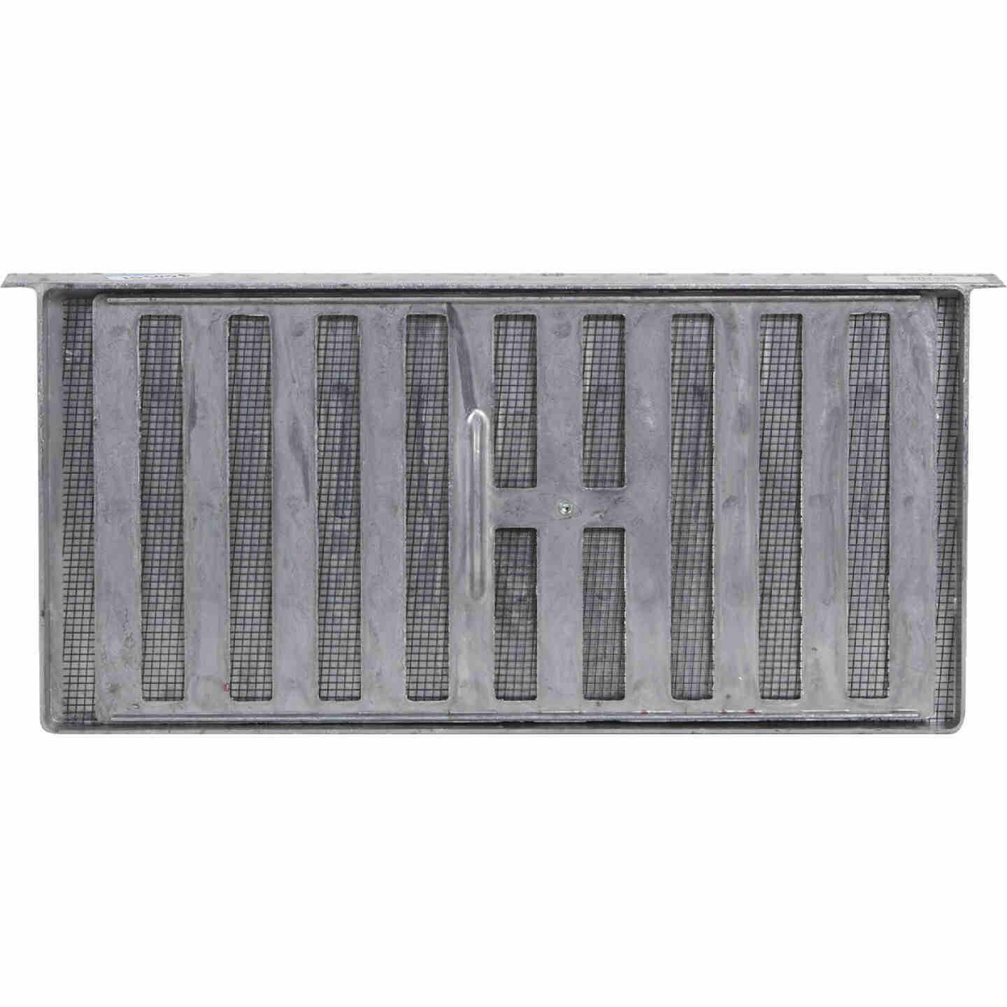 Air Vent 8 In. x 16 In. Aluminum Manual Foundation Vent with Sliding Damper and Lintel Image 2