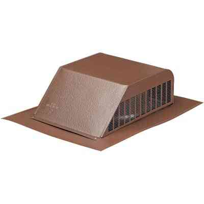 Airhawk 50 In. Brown Aluminum Slant Back Roof Vent