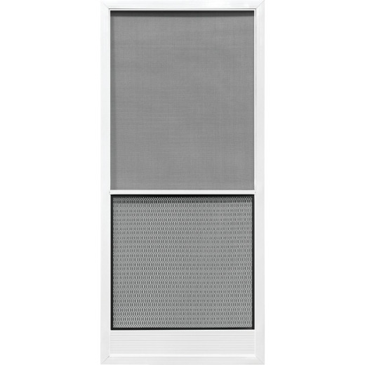 Precision Screen Capri 32 In. W x 80 In. H x 7/8 In. Thick White Steel Screen Door