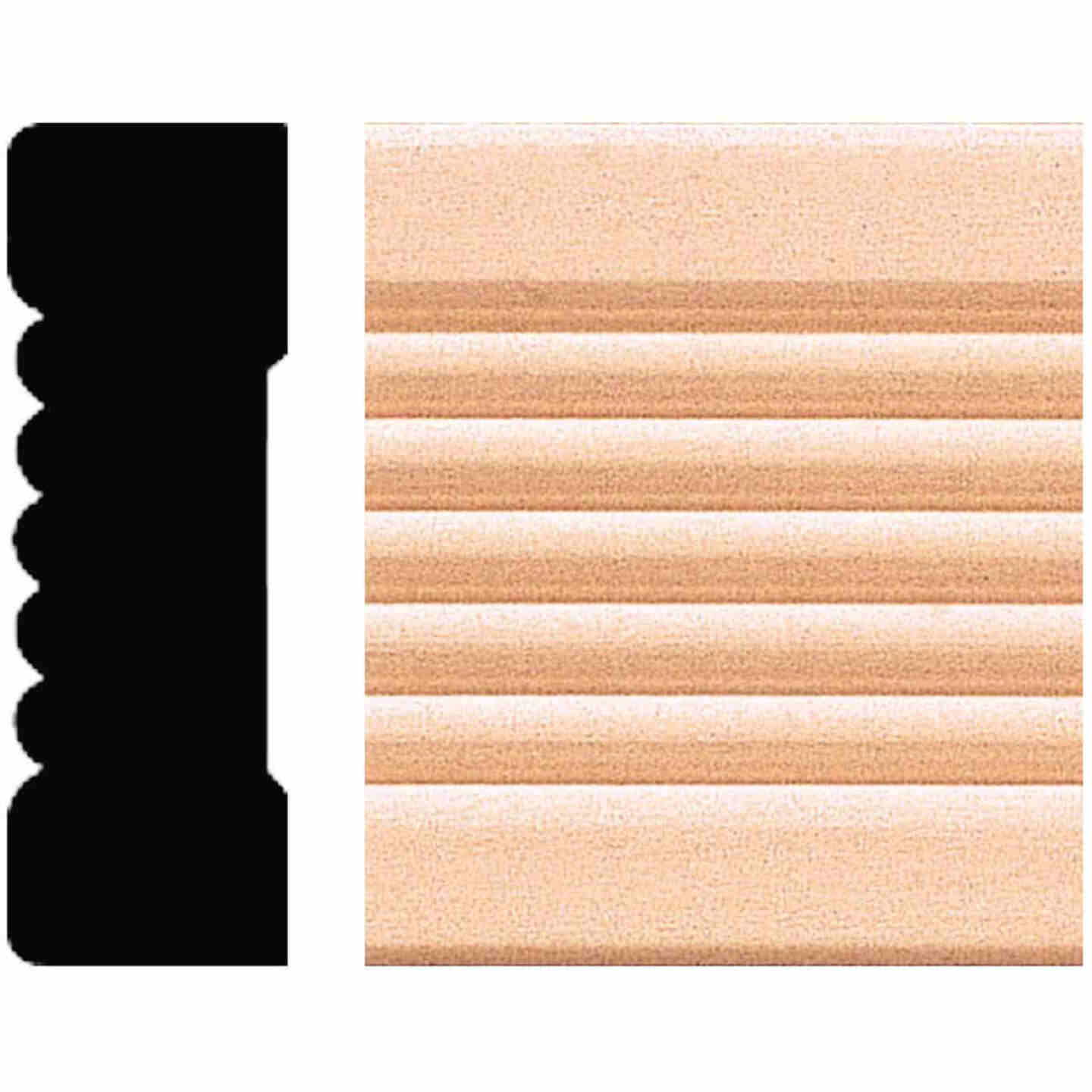 House of Fara 21/32 In. W. x 2-1/4 In. H. x 8 Ft. L. Natural Hardwood Fluted Wood Casing Image 1