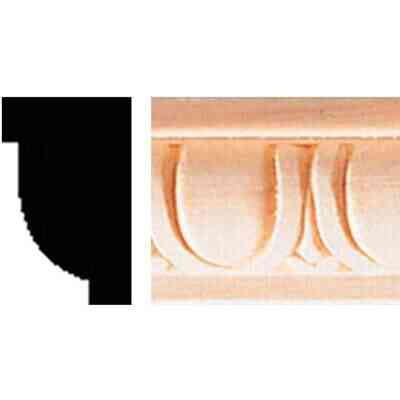 House of Fara 5/8 In. x 1 In. x 8 Ft. Hardwood Decorative Egg & Dart Detail Molding