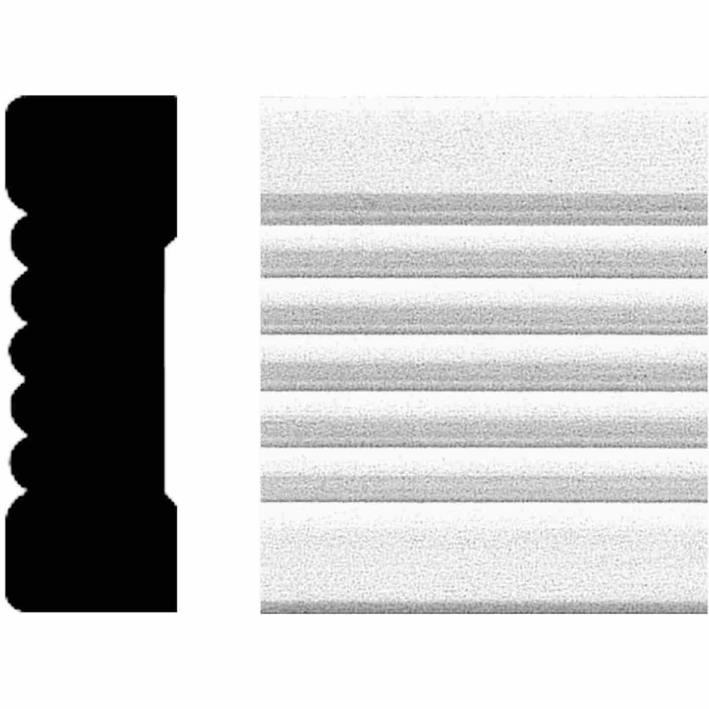 House of Fara 3/4 In. W. x 2-1/4 In. H. x 8 Ft. L. White MDF Fluted Casing Molding Image 1