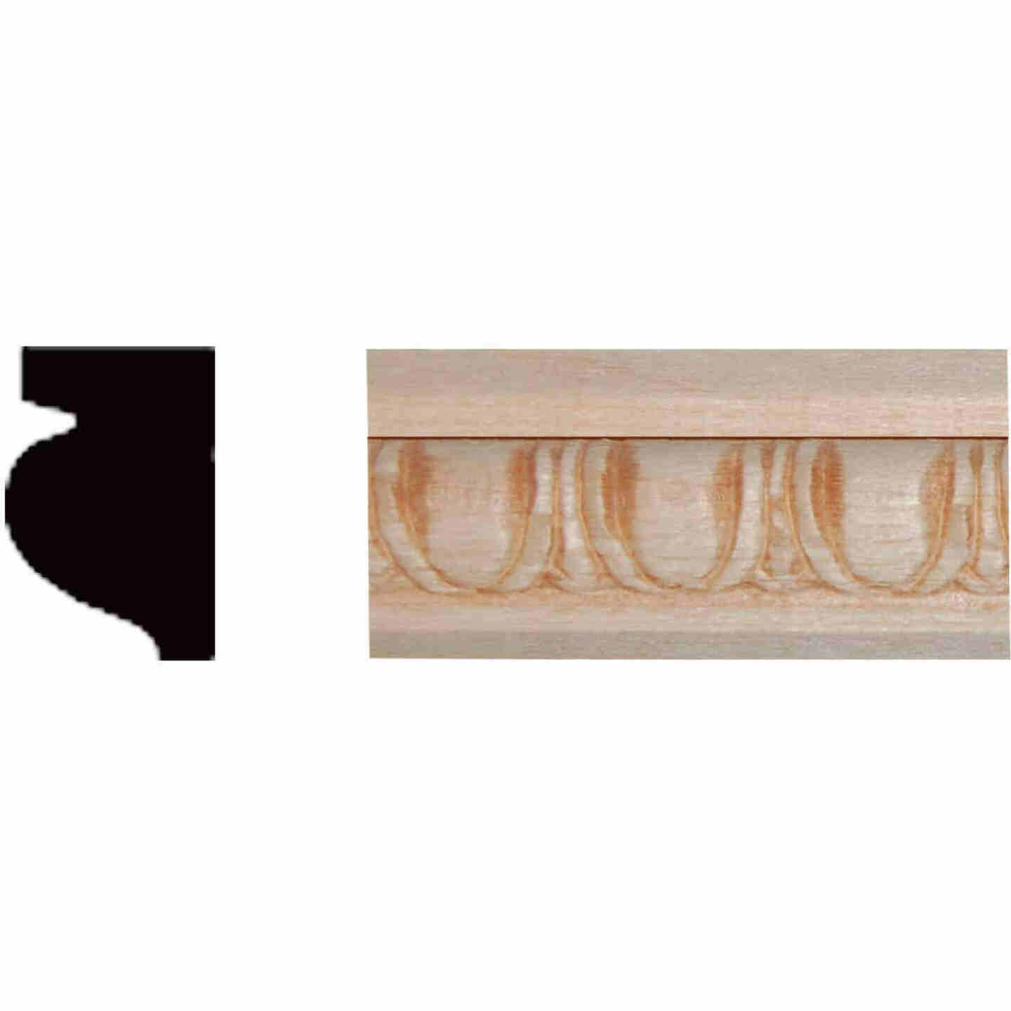 House of Fara 15/32 In. x 21/32 In. x 8 Ft. Hardwood Embossed Decorative Egg & Dart Detail Molding Image 1