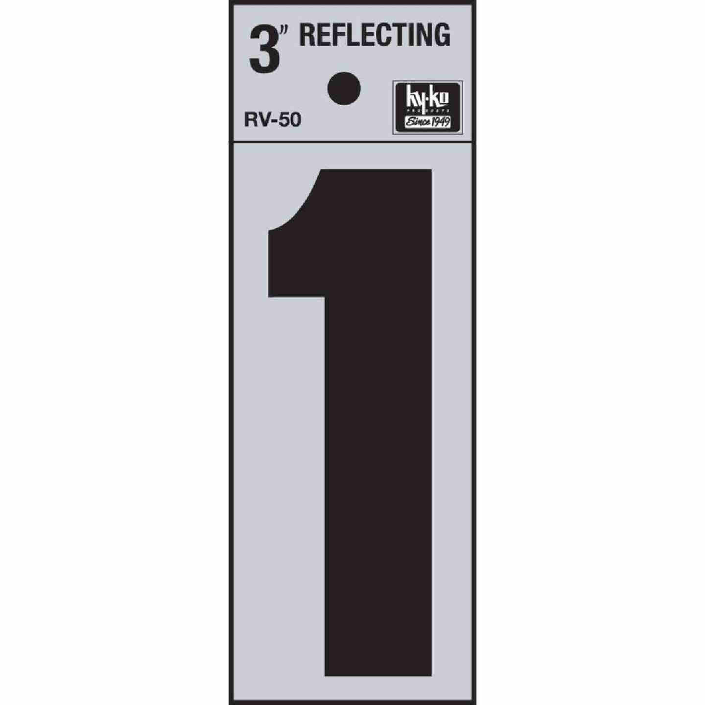 Hy-Ko Vinyl 3 In. Reflective Adhesive Number One Image 1