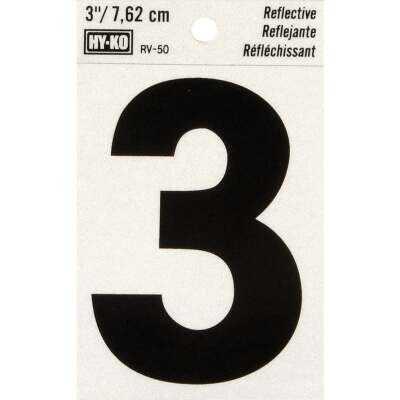 Hy-Ko Vinyl 3 In. Reflective Adhesive Number Three