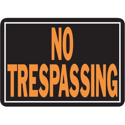 Hy-Ko Aluminum Sign, No Trespassing