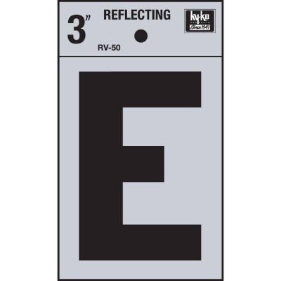 Hy-Ko Vinyl 3 In. Reflective Adhesive Letter, E
