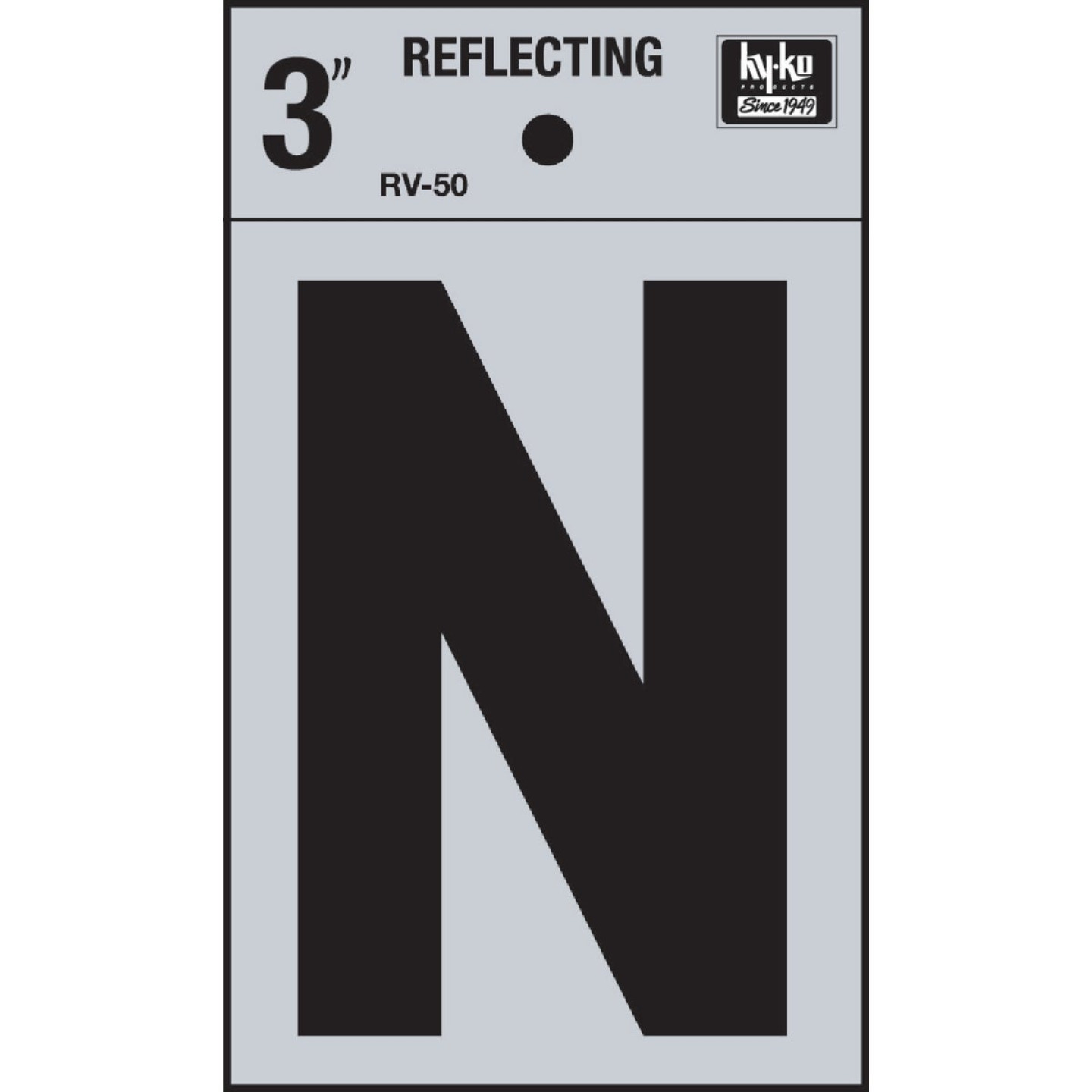 Hy-Ko Vinyl 3 In. Reflective Adhesive Letter, N Image 1