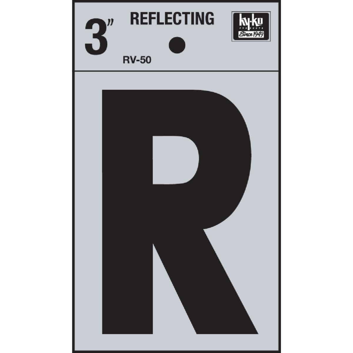 Hy-Ko Vinyl 3 In. Reflective Adhesive Letter, R Image 1