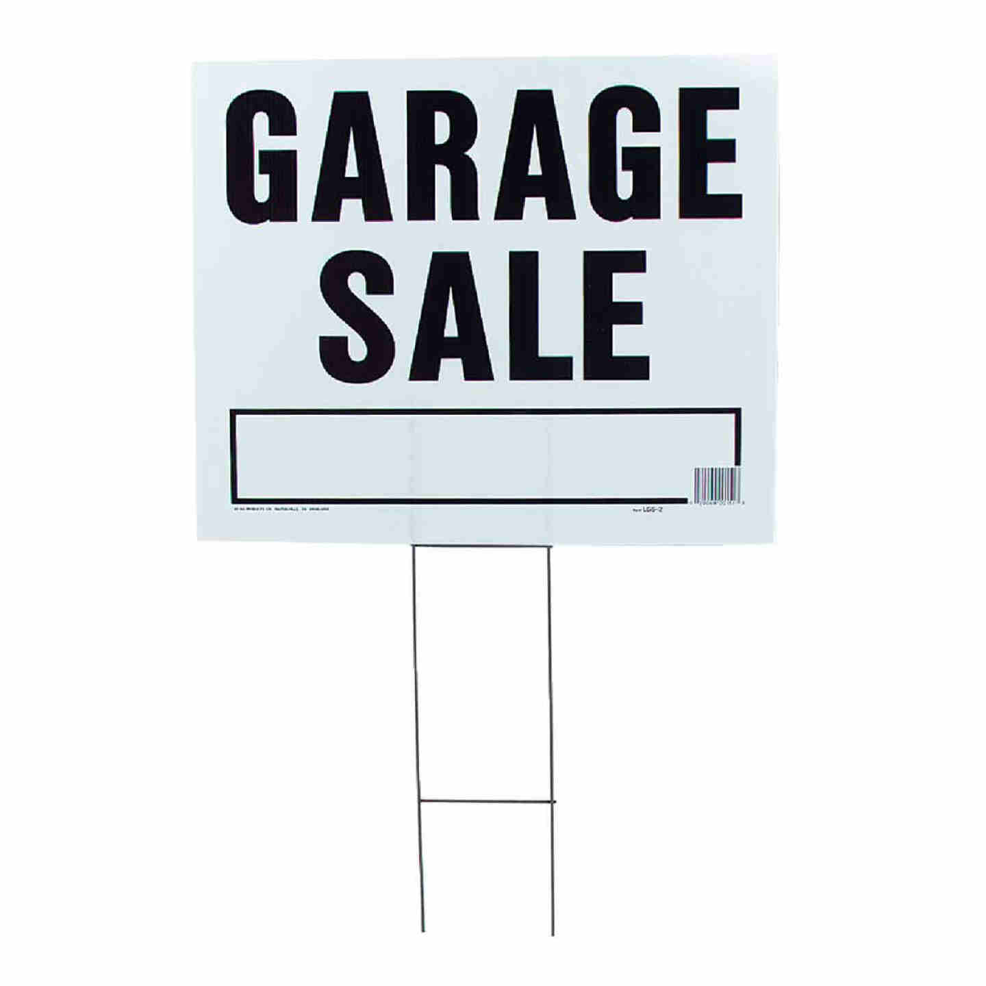 Hy-Ko Corrugated Plastic Sign, Garage Sale Image 1