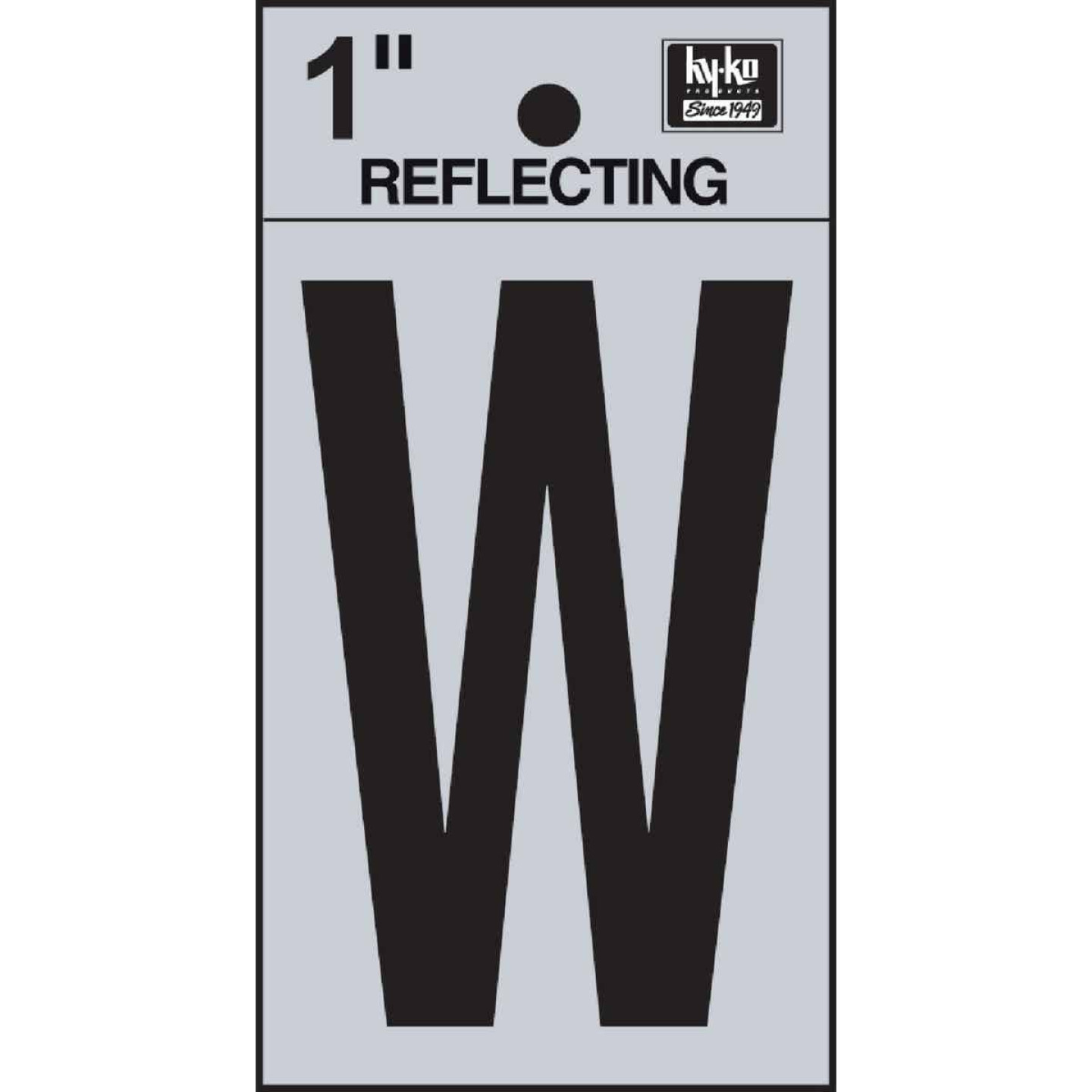 Hy-Ko Vinyl 1 In. Reflective Adhesive Letter, W Image 1