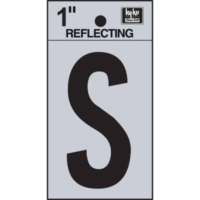 Hy-Ko Vinyl 1 In. Reflective Adhesive Letter, S