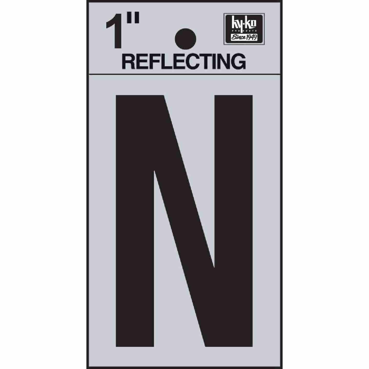 Hy-Ko Vinyl 1 In. Reflective Adhesive Letter, N Image 1