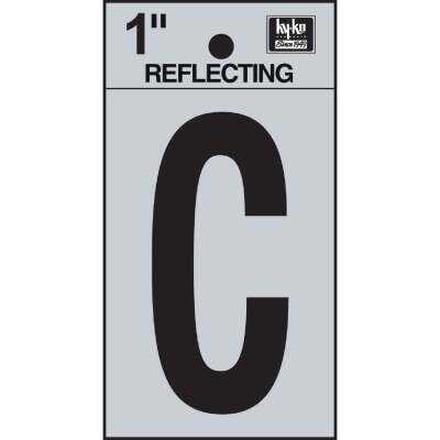 Hy-Ko Vinyl 1 In. Reflective Adhesive Letter, C