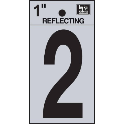 Hy-Ko Vinyl 1 In. Reflective Adhesive Number Two