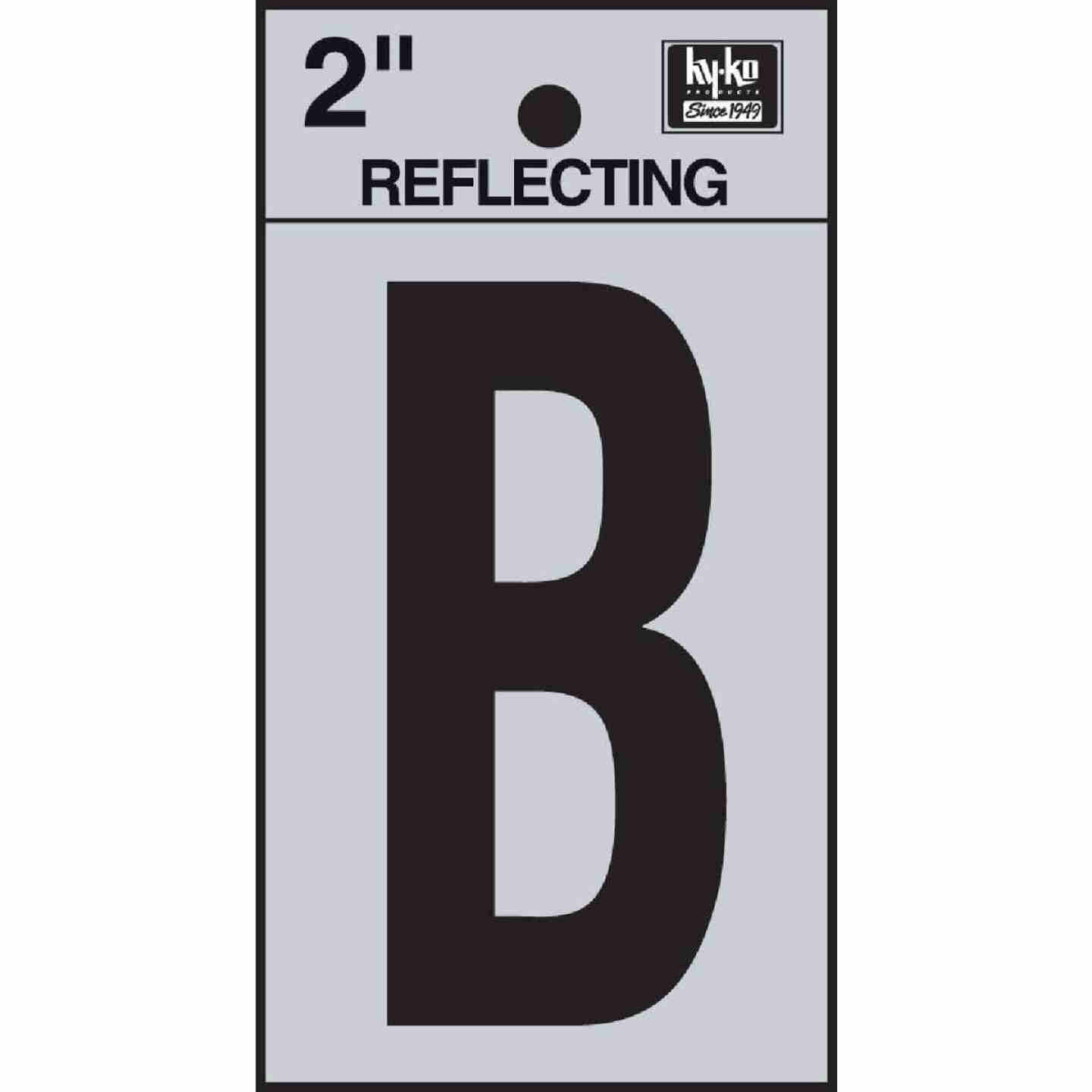 Hy-Ko Vinyl 2 In. Reflective Adhesive Letter, B Image 1