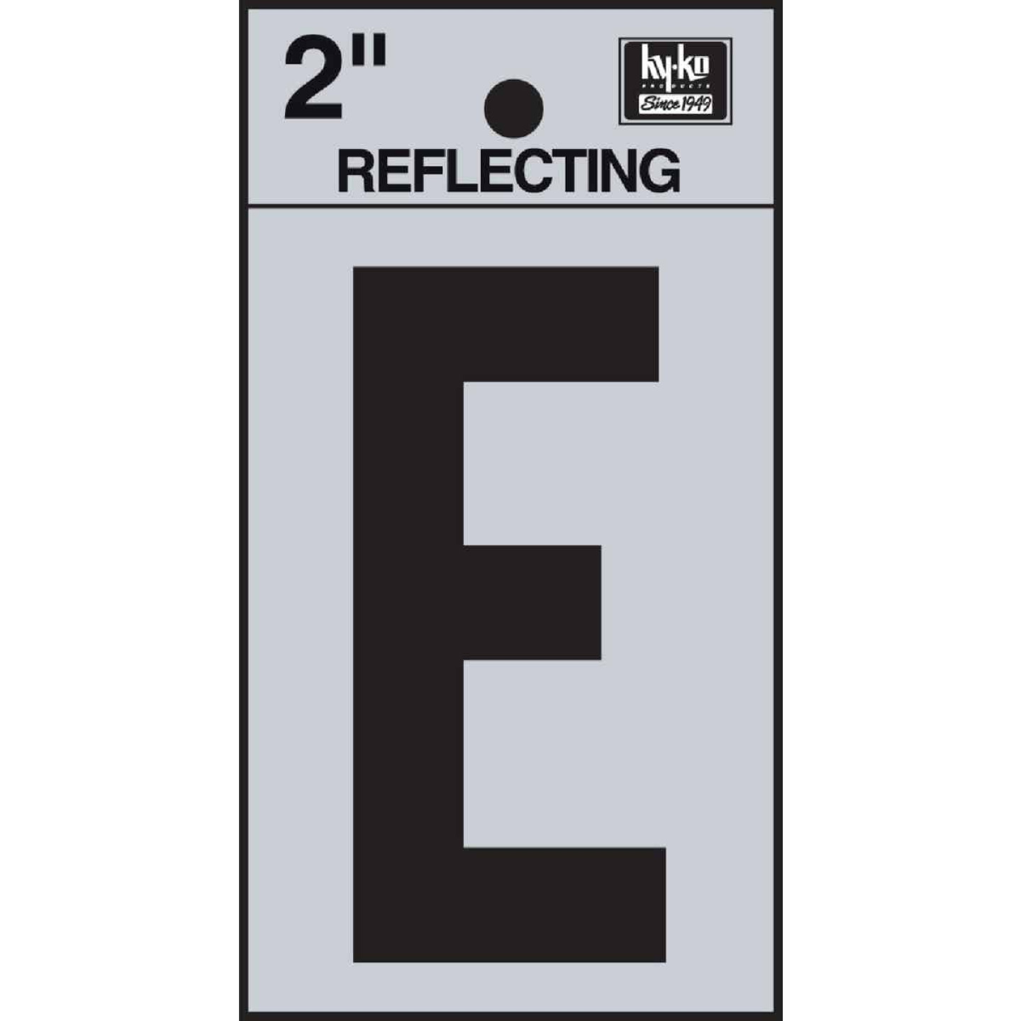 Hy-Ko Vinyl 2 In. Reflective Adhesive Letter, E Image 1