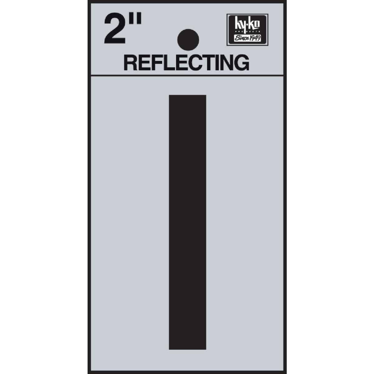 Hy-Ko Vinyl 2 In. Reflective Adhesive Letter, I Image 1