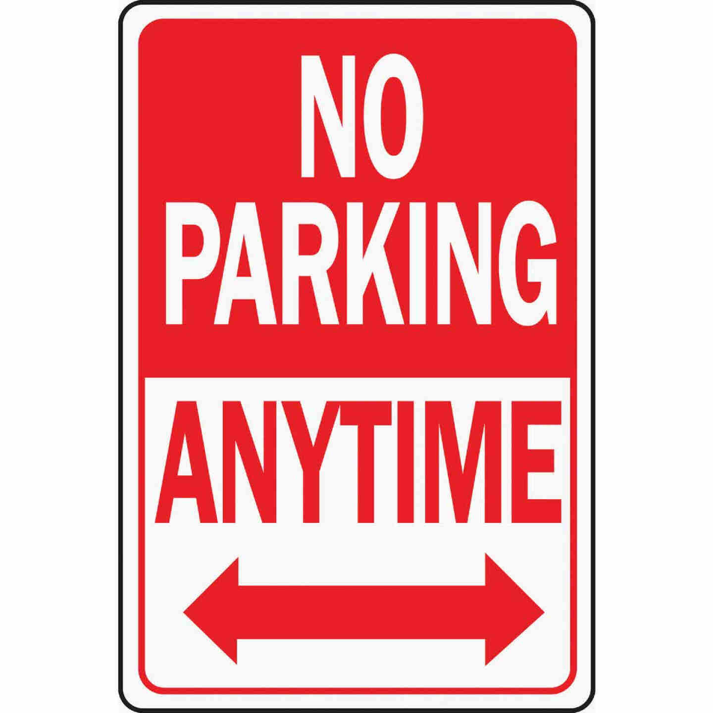 Hy-Ko Heavy-Duty Aluminum Sign, No Parking Anytime Image 1