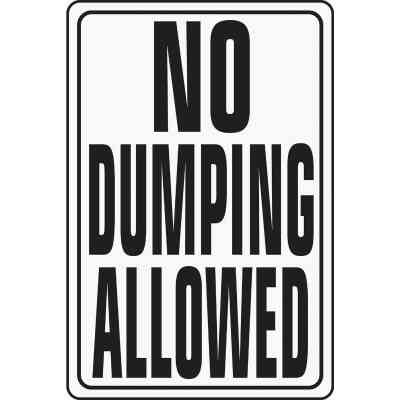 Hy-Ko Heavy-Duty Aluminum Sign, No Dumping Allowed