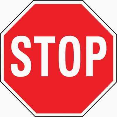 Hy-Ko Heavy-Duty Aluminum Sign, Stop