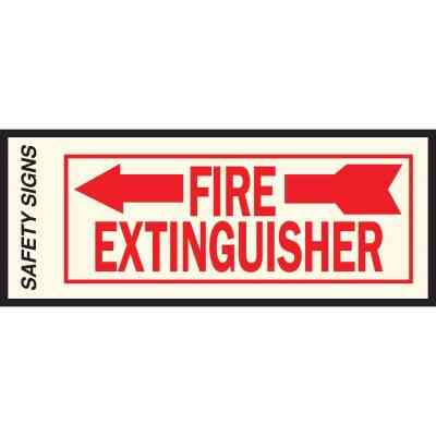 Hy-Ko Vinyl Sign, Fire Extinguisher with Arrow Left