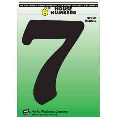 Hy-Ko 6 In. Black Gloss House Number Seven