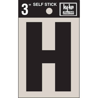 Hy-Ko Vinyl 3 In. Non-Reflective Adhesive Letter, H