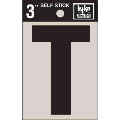 Hy-Ko Vinyl 3 In. Non-Reflective Adhesive Letter, T