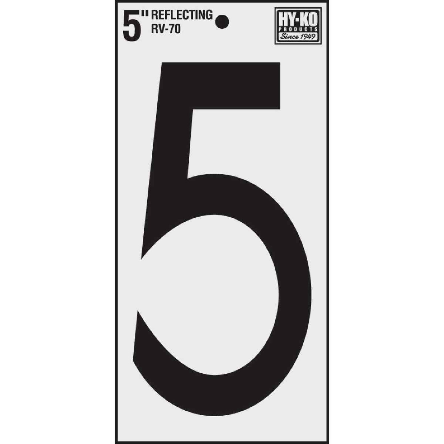 Hy-Ko Vinyl 5 In. Reflective Adhesive Number Five Image 1