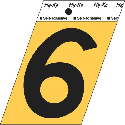 Hy-Ko Aluminum 3-1/2 In. Non-Reflective Adhesive Number Six