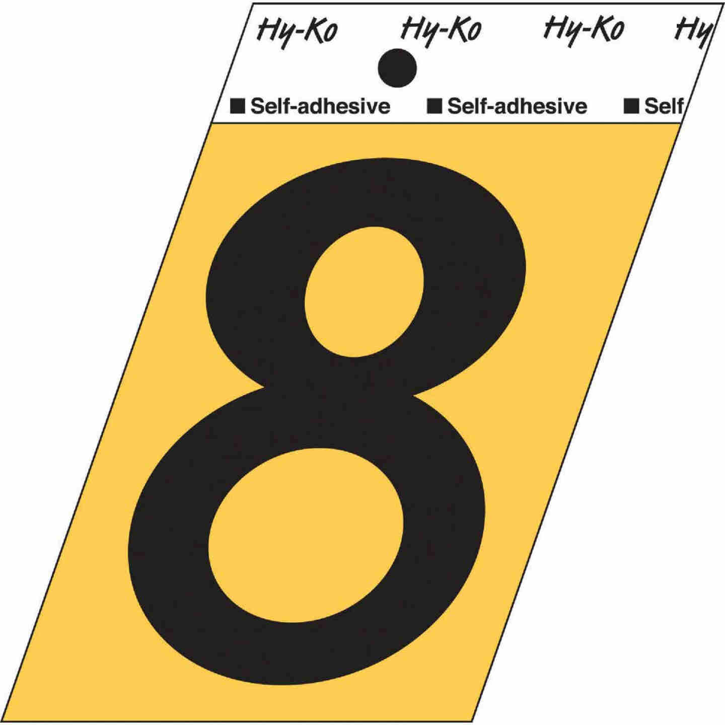 Hy-Ko Aluminum 3-1/2 In. Non-Reflective Adhesive Number Eight Image 1