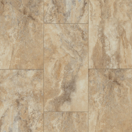 Floorte Pro Paragon Tile Plus Clay 12 In. x 24 In. Vinyl Floor Tile (15.83 Sq. Ft./Box)