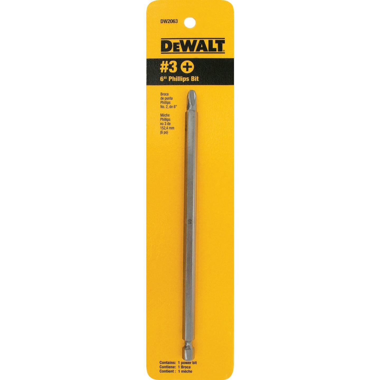 DeWalt Phillips #3 6 In. 1/4 In. Power Screwdriver Bit Image 2
