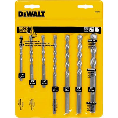 DeWalt Masonry Drill Bit Set (7-Pieces)
