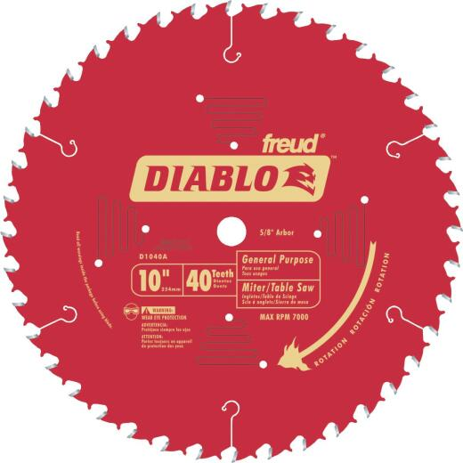 Diablo 10 In. 40-Tooth General Purpose Circular Saw Blade, Bulk