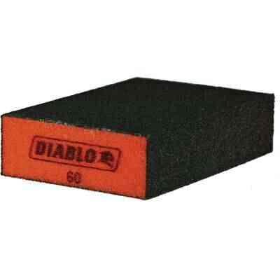 Diablo 2-1/2 In. x 4 In. x 1 In. 60 Grit (Medium) Flat Edge Sanding Sponge
