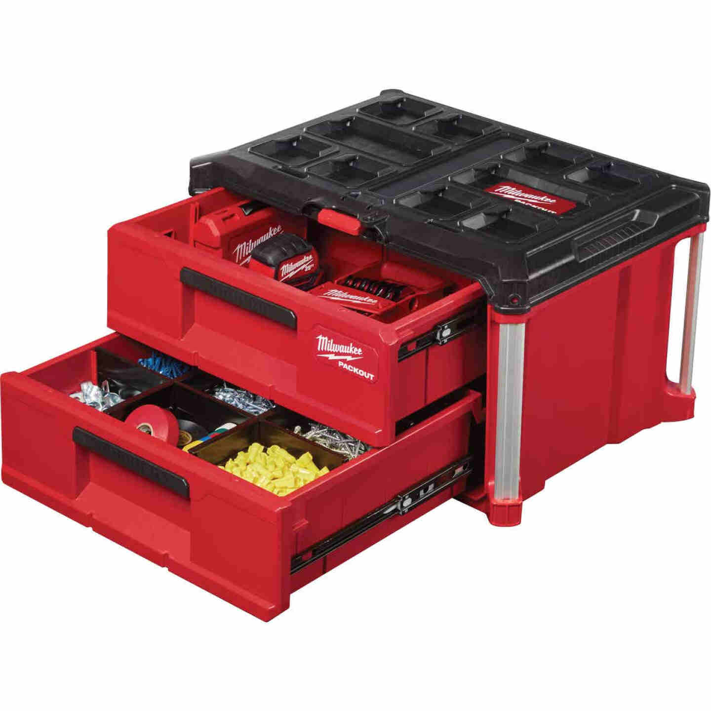 Milwaukee PACKOUT 2-Drawer Toolbox, 50 Lb. Capacity Image 5