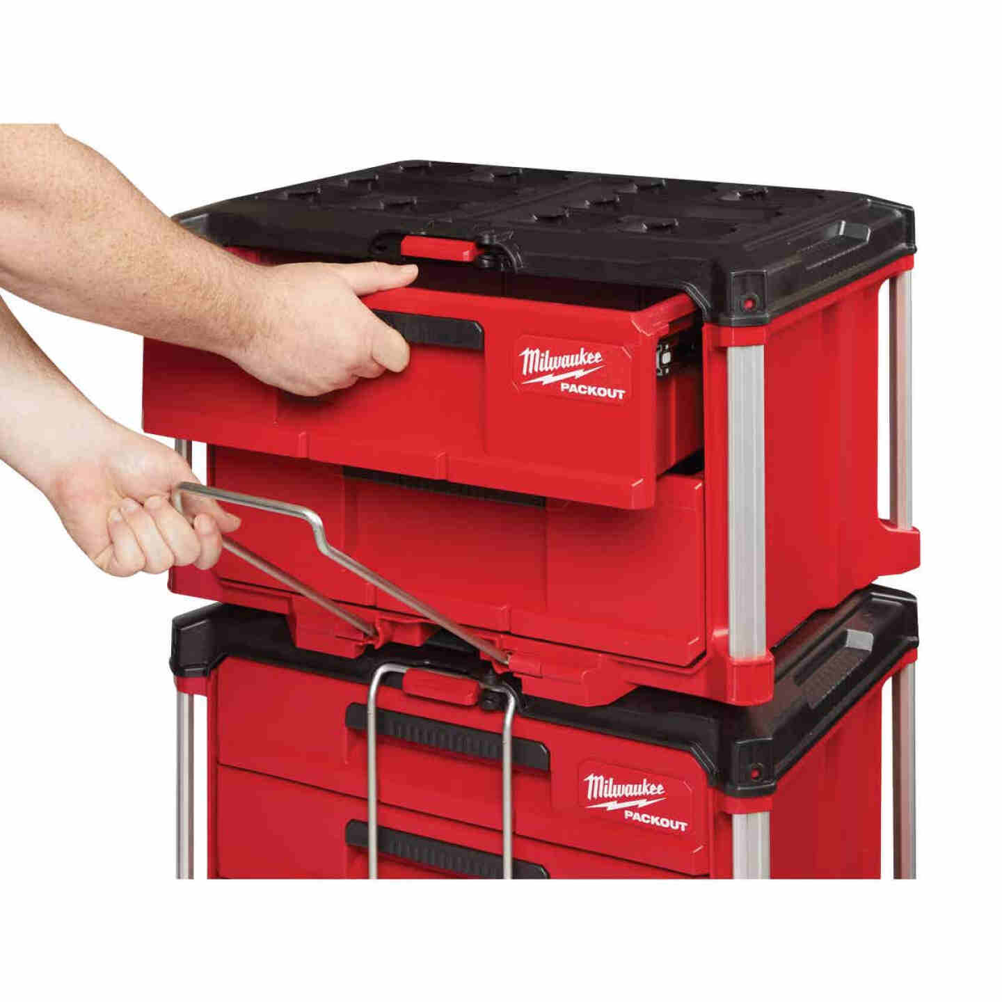 Milwaukee PACKOUT 2-Drawer Toolbox, 50 Lb. Capacity Image 2