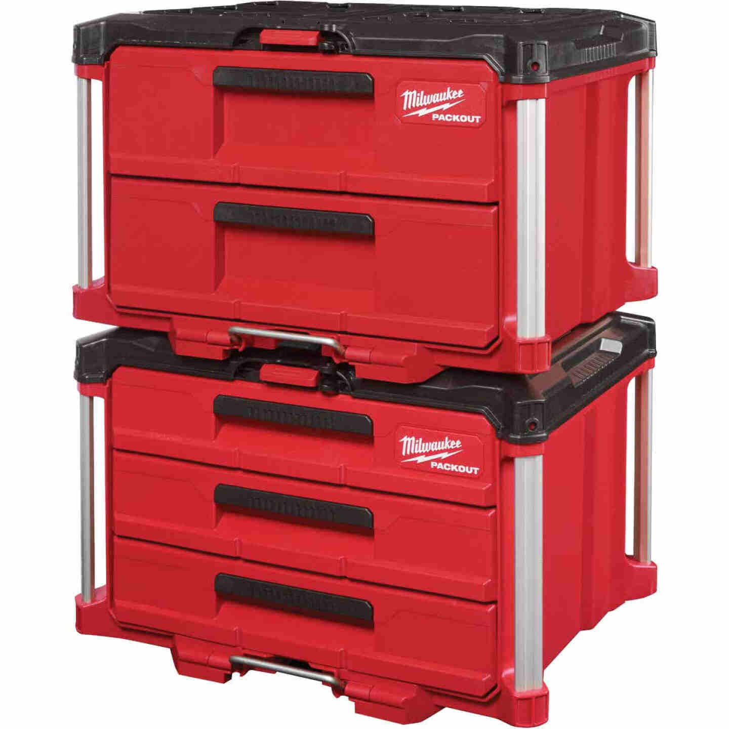 Milwaukee PACKOUT 2-Drawer Toolbox, 50 Lb. Capacity Image 4