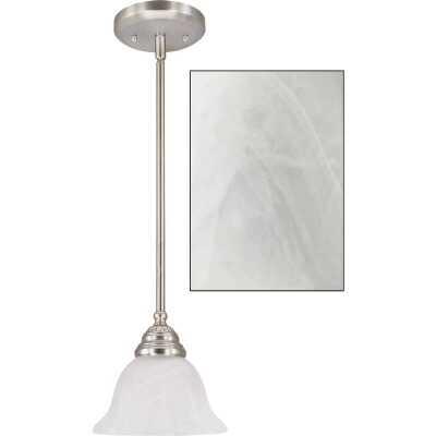Home Impressions Julianna 1-Bulb Brushed Nickel Incandescent Pendant Light Fixture