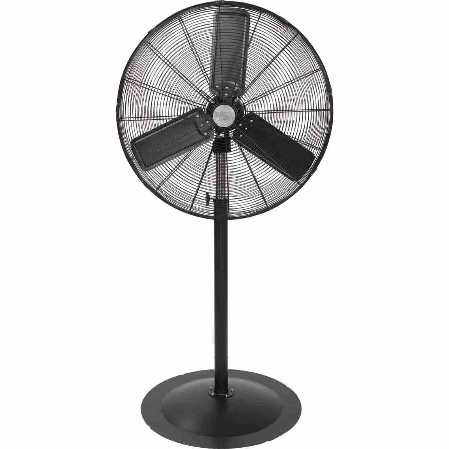 30 In. 2-Speed 60 In. to 78 In. H. Oscillating Pedestal Fan Image 1