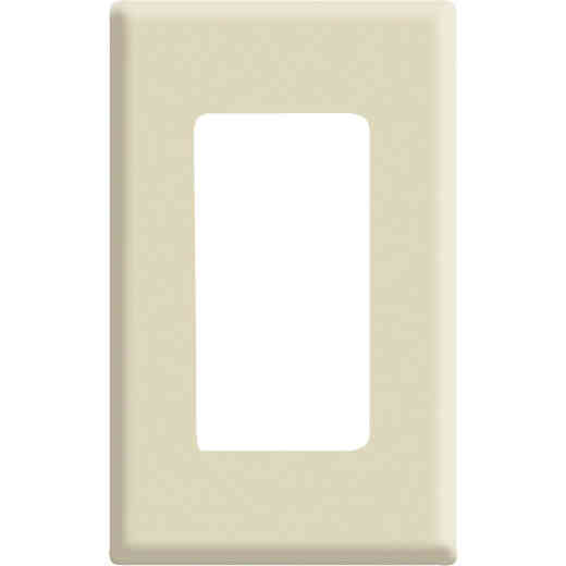 Leviton Decora Plus 1-Gang Poly Carbonate Screwless Decorator Wall Plate, Ivory