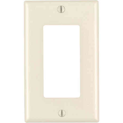 Leviton Decora 1-Gang Nylon Rocker Decorator Wall Plate, Light Almond