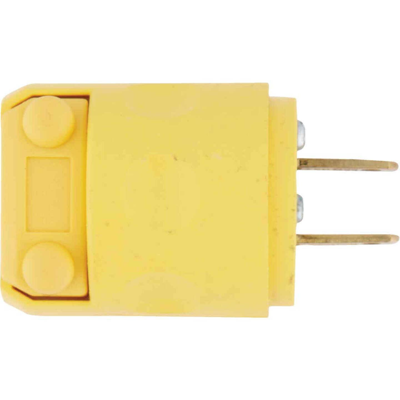 Leviton 15A 125V 2-Wire 2-Pole Residential Grade Cord Plug, Yellow Image 3