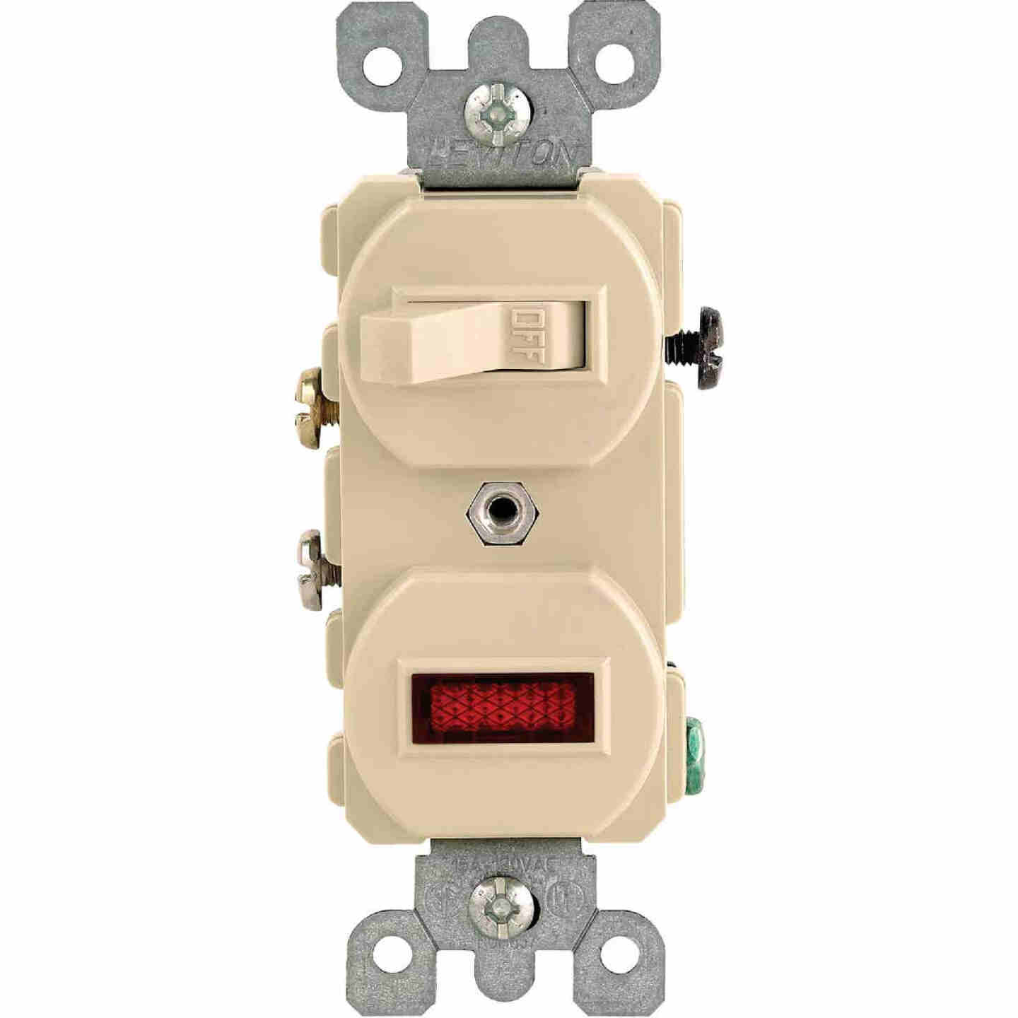Leviton Commercial Grade Ivory 15A Switch & Pilot Light Image 1