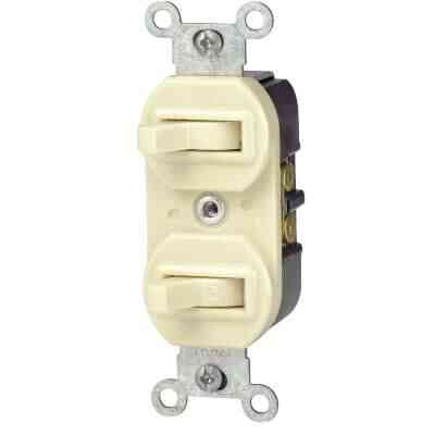Leviton Single Pole & 3-Way Ivory 15A Duplex Switch