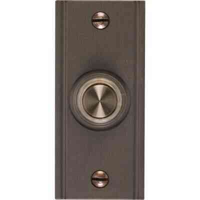 Heath Zenith Wired Oil Rubbed Bronze Metal Body LED Lighted Doorbell Push-Button