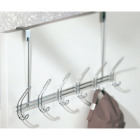 InterDesign Classico Over-The-Door Chrome 6-Hook Rail Image 2