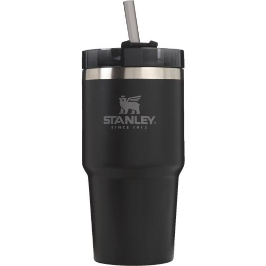 Stanley 20 Oz. Black Adventure Insulated Tumbler with Straw